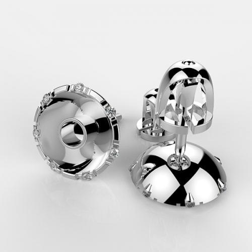 Оправа с бриллиантами для пусет PS5