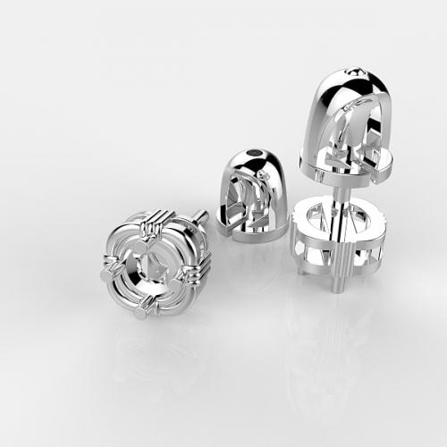 Оправа с бриллиантами для серег PS15