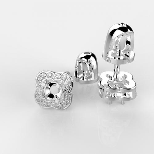 Оправа с бриллиантами для серег PS22
