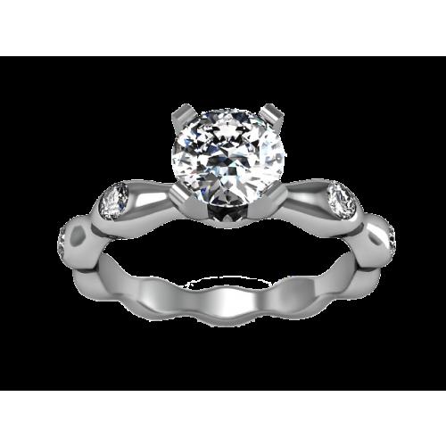 Золотое кольцо с бриллиантом 0,52 карат