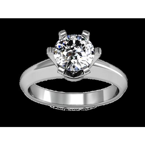 Кольцо с бриллиантом 1 карат MA23