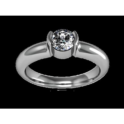 Золотое кольцо с бриллиантом 0,30 карат
