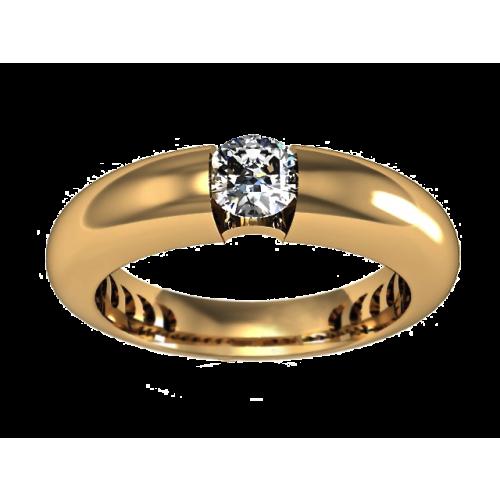 Золотое кольцо с бриллиантом 0,52 карата
