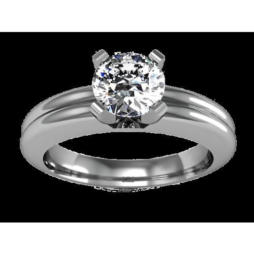 Кольцо из золота 585 пробы с бриллиантом 0,32 карат