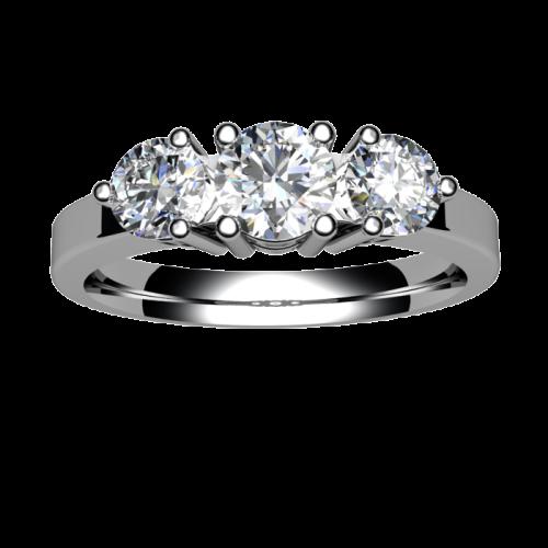 Кольцо с тремя бриллиантами