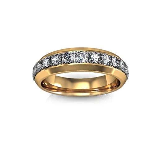 Кольцо с дорожкой из бриллиантов