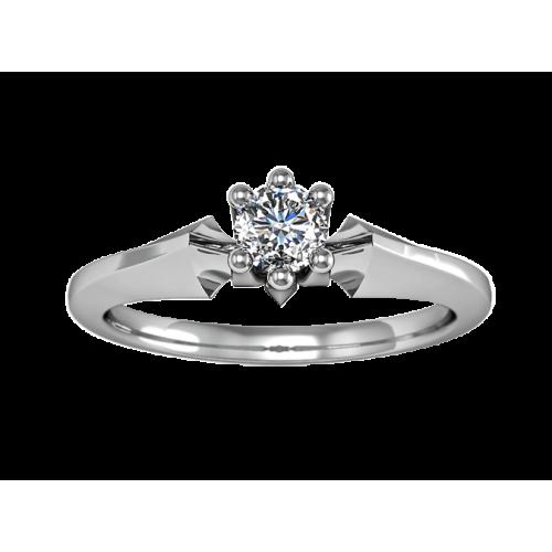 Кольцо из золота с бриллиантом 0,10 карат