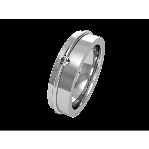 Кольцо обручальное из золота с бриллиантом  NM3J
