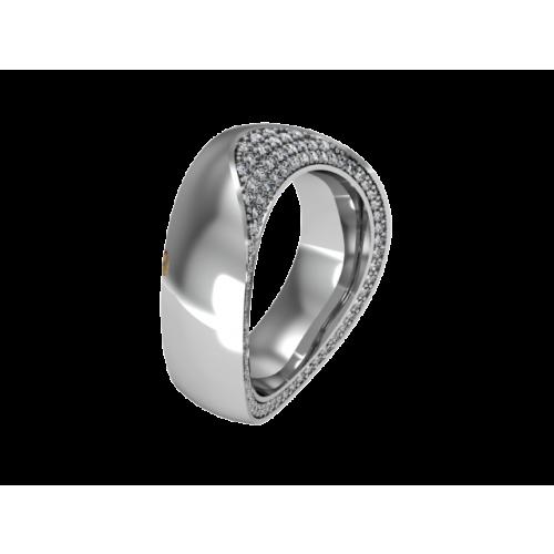 Кольцо обручальное с россыпью бриллиантов NM5J