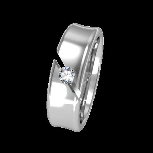 Кольцо обручальное с бриллиантом  NM7J