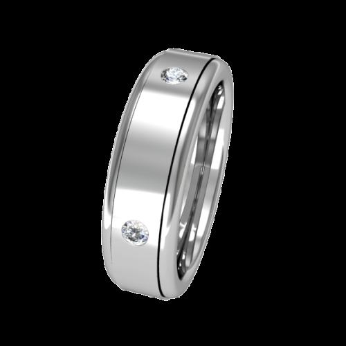 Золотое кольцо с бриллиантами обручальное NM8J