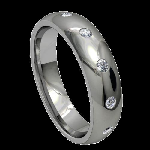 Кольцо обручальное с крупными бриллиантами NM18M