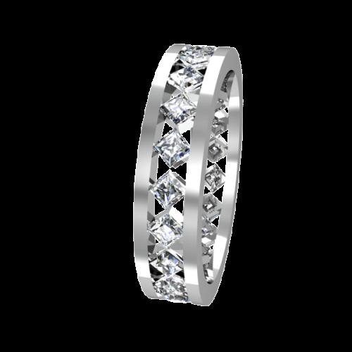 Кольцо обручальное с крупными бриллиантами NM24J