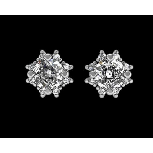 Золотые пусеты с бриллиантами по 0,35 карат