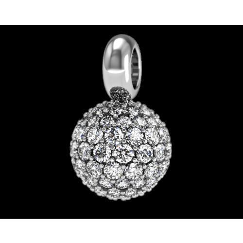 Подвеска из золота, усыпанная бриллиантами