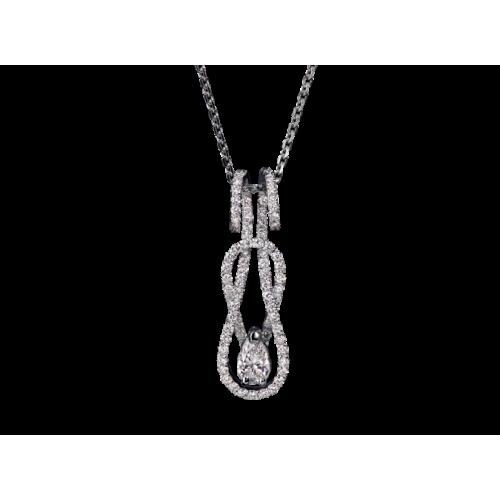Подвеска из белого золота с бриллиантами