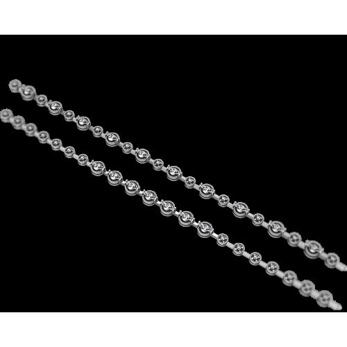 Браслет из белого золота с крупными бриллиантами