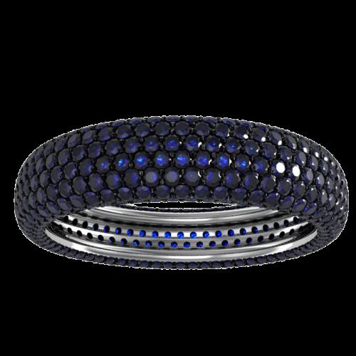 Кольцо обручальное с сапфирами NM25M