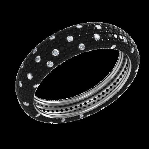 Кольцо обручальное с бриллиантами NM25M