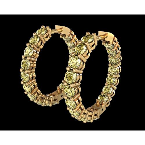 Серьги из желтого золота с крупными сапфирами