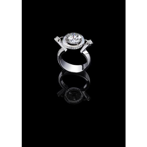 Эксклюзивное кольцо с бриллиантом 3 карата Ice Diamond