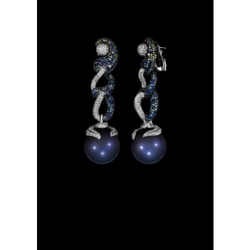 Эксклюзивные серьги с жемчугом и бриллиантами Pearl Passion