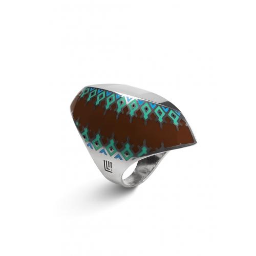 Эксклюзивное кольцо из серебра АА0106
