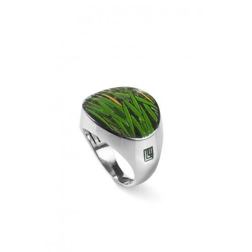 Эксклюзивное кольцо из серебра АА0118