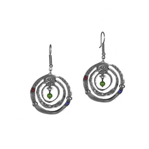 Эксклюзивные серьги из серебра ОС0318