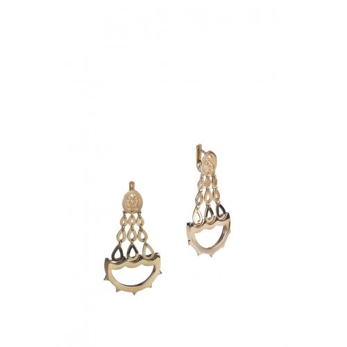 Эксклюзивные серьги из серебра АА0120