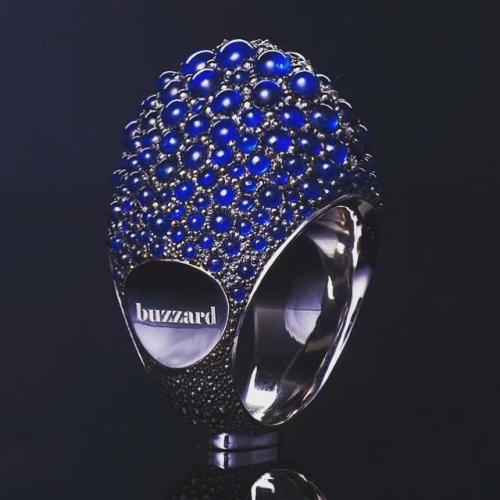 Кольцо Blue Sapphire с бриллиантами и сапфирами