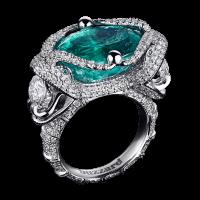 Кольцо Emerald snake с изумрудом 15,78ct. Коллекция buzzard